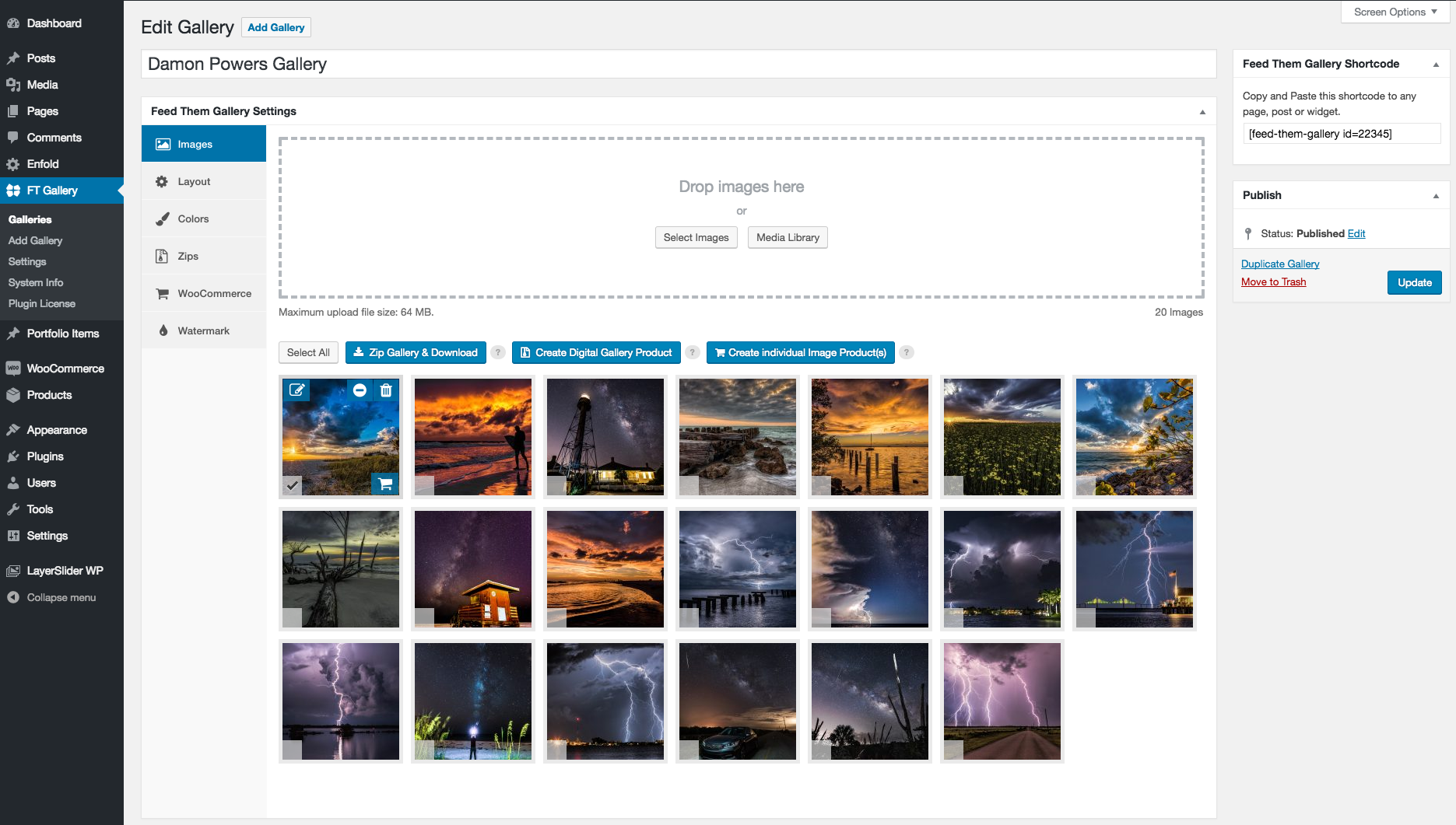 Feed Them Gallery – Create amazing looking photo galleries